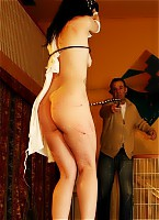 Whipping of a rebellious whore
