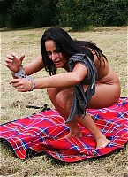 Awesome outdoor pussy whipping