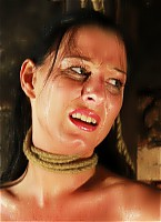 Strangled and lashed brutally