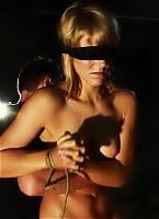Tied up blindfolded and lashed