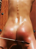 Oiled and xbound for torture