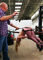 Tied up and punished brutally